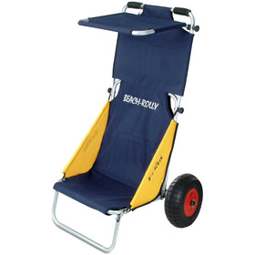 Eckla Beach-Rolly Con Tettuccio E Ruote Antiforatura, blue/yellow